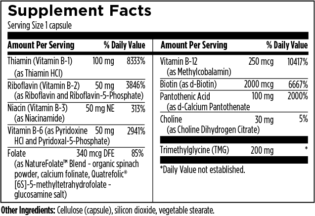 Activated-B-Supplement Facts