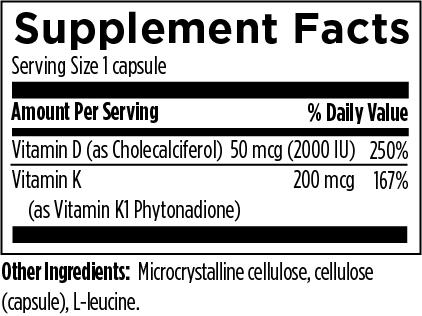 Bottled Sunshine-Supplement Facts