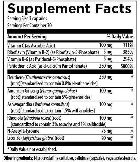 Stress Support-Supplement Facts